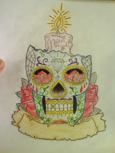 Skull Tattoo Flash