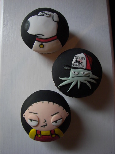 Stewie, Early and Brian cupcakes