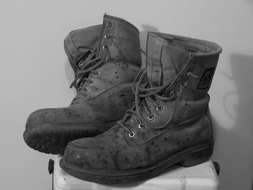 blackandwhite bw toronto ontario canada dave work boots johnson 2009 davejohnson davidvincentjohnson