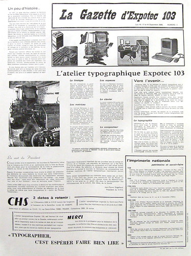 La Gazette d'Expotec 103 n°1