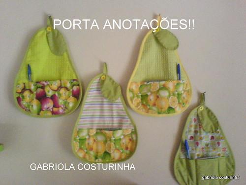 ##porta anotações ## by Gabriola costurinha/rose