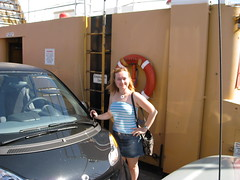 Beth & Dr. Car on the Albion Ferry by Kalev