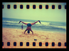 Hawaiian Ninja Holga 35mm (Justin Ornellas) Tags: ocean justin art film beach water 35mm vintage hawaii holga interestingness interesting lomo lomography waves surfing holes retro flip  hawaiian sandys sandybeach sprocket halona explored  ornellas ornellaswouldgo