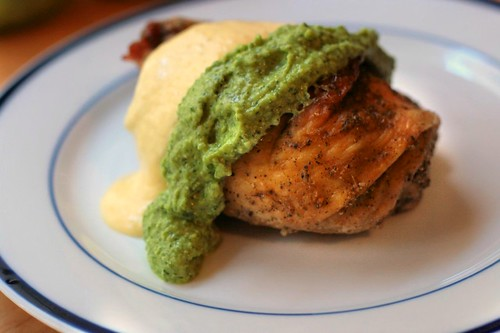 Peruvian Roast Chicken with Aji Amarillo and Aji Verde