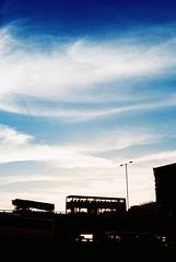 Bus (Ronironic) Tags: blue sunset sky cloud bus silhouette hongkong xpro crossprocessed publictransportation nwn yaumatei  etoc minoltaxd7
