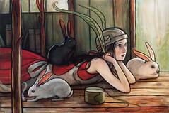 """Rabbit Ears"" (verpabunny) Tags: original june painting acrylic rabbitears thinkspace kellyvivanco theconservatory"