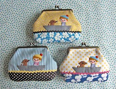 boy and puppy pouch (INOMI) Tags: boy dog puppy handmade craft purse pouch applique