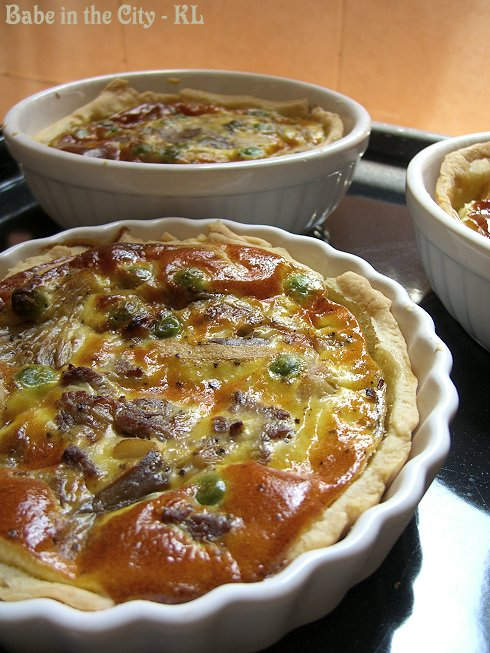 Beef, Onions & Peas Quiche