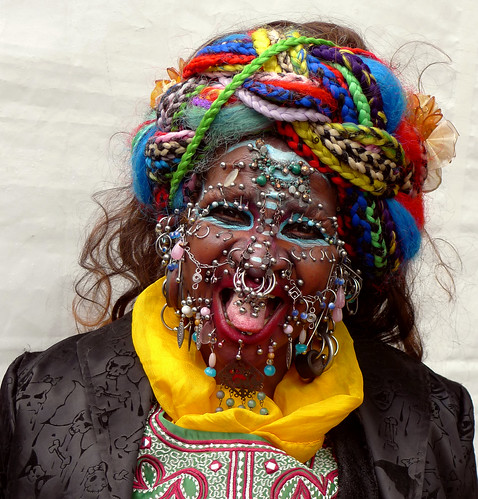 worlds most pierced woman. Elaine Davidson-worlds most