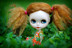 Two Piggytails in the Grass - 6/365
