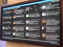 Tweetdeck in Dialog-Proquest booth