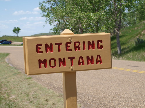 Fort Union Entering Montana