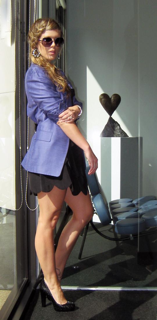 purple-blazer-little-black-dress-braid-1