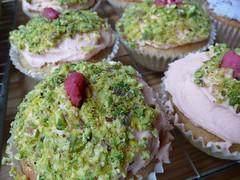 Macro Turkish Delight Cupcakes (Create Make Bake) Tags: pink white cakes coffee rose yellow cupcakes baking lemon rainbow chocolate violet sprinkles oreo baked fairycakes