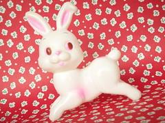 Vintage Japan Kawaii Rubber Doll Bunny Rabbit Japanese Toy Cute (Kawaii Japan) Tags: old