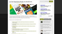 20 User Experience Books you should own | UXbyDesign.org_1246221368903