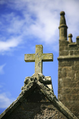 Cross (quentinimages) Tags: sky ancient cornwall cross religion churchtower heavenly phototours