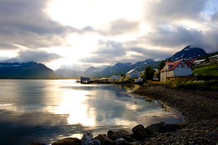 In Faskrudsfjordur (*Jonina*) Tags: sunset sea evening iceland village sland hafi kvld slsetur fskrsfjrur faskrudsfjordur anawesomeshot orp betterthangood theperfectphotographer goldstaraward platinumpeaceaward