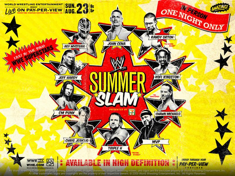 Wallpaper del SummerSlam 2009 / wwe.com