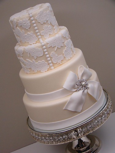 Lace Wedding Cake 3 by The Sweetest Thing Cakes Cristina