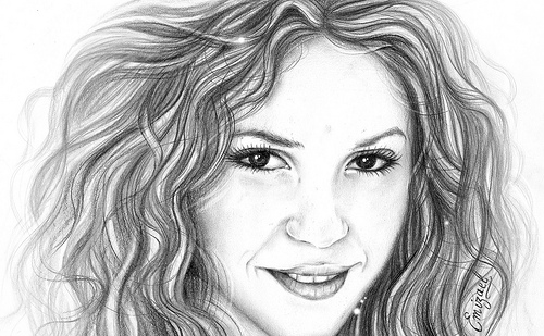 Karakalemle güzel kadın yüzleri yapma çalışmaları drawing time