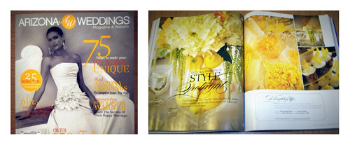 our feature in this month's Arizona Wedding magazine