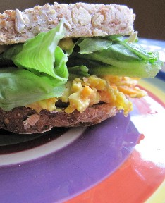 Curried Chick Pea Sandwich