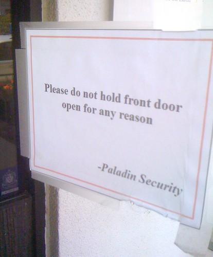 Do Not Hold Door Open