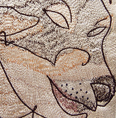 Darwin (detail) (Jenni Cadman) Tags: machineembroidery embroidery stitching stitchedtextile textile wallhanging textilewallhanging textileart jennicadman stitcheddrawing contemporaryembroidery finearttextiles freehandembroidery freehand doodling contemporarytextiles textilearts embroideredart paintingwiththread threadpainting freemachineembroidery freemotionembroidery stitchedtextiles embroidereddogs dogsinthreads dogportrait