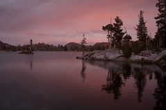 Sunset at Middle Velma Lake (Emerald Bay, California, United States) Photo