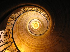 in circles (**MIKA**) Tags: abbey stairs spiral austria österreich staircase helix melk kloster wachau donau stift treppenhaus schneckenhaus wendeltreppe helical iiasa yssp