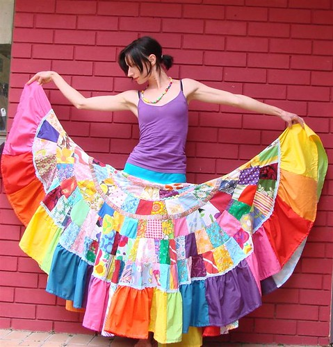 Fairytale rainbow goddess Patchwork Maxi Skirt | Flickr - Photo ...