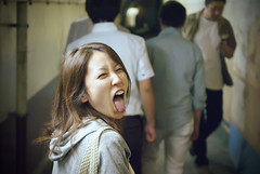 (torode) Tags: tongue japan night tokyo shinjuku  alta friday  japanesegirl      undergroundpassageway  bentorode benjamintorode