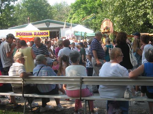 Blueberry Festival-goers