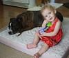Mattie n Zeke (mizcaliflower) Tags: dogs babies babydogs