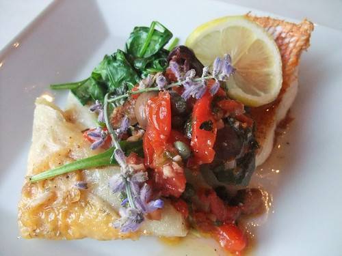 Snapper from Black Creek Bistro