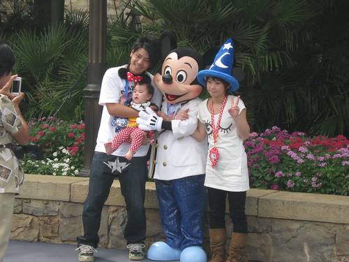 My clever excuse to make use of this picture I took of Mickey and a random family.