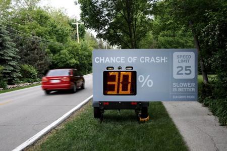 Slower is better - interactive billboard