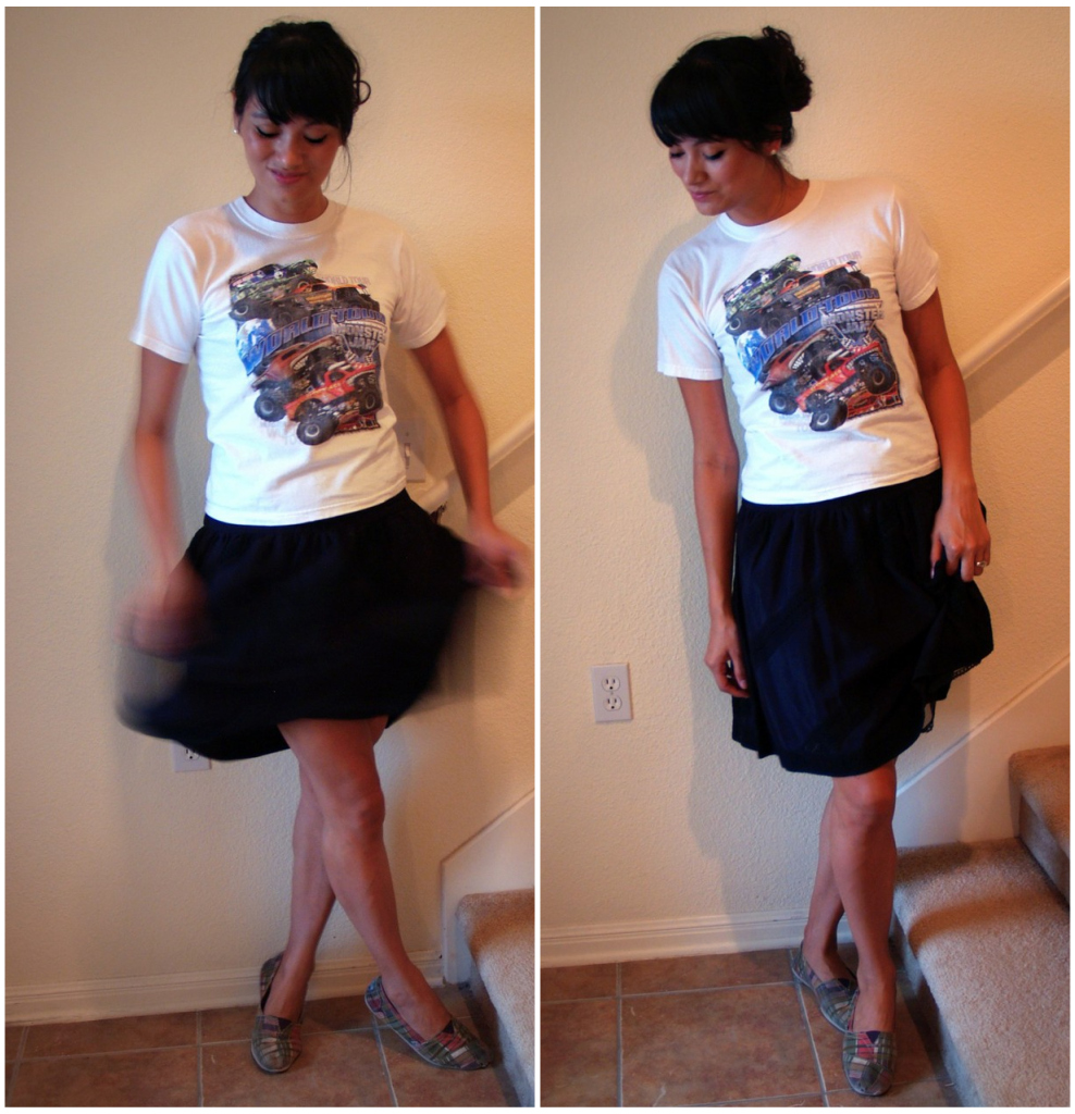 monster truck skirt + tulle skirt (pt.2)