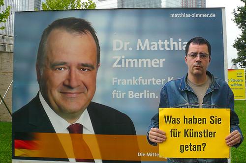 Was haben Sie für Künstler getan, Herr Zimmer von der CDU