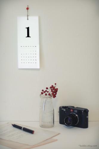 100% recycled calendar
