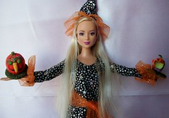 barbie  lea  halloween  enchantres (napudollworld) Tags: girls halloween fashion witch ghost barbie scene characters fever