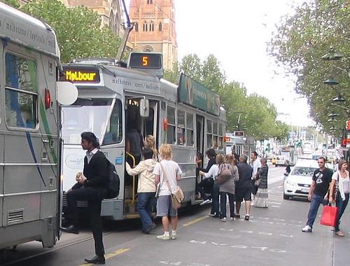 Swanston Street trams