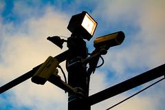 "Big Brother.jpg (99%: ""Meh"") Tags: berkeley parkinglot streetlamp streetphotography cameras securitycamera 1855mmkitlens nikond40"