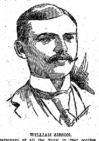 Bay View baseball club general manager William Sisson. Sisson was also a salesman. From the 1898 Milwaukee Sentinel. ~courtesy Dennis Pajot
