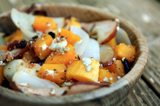 Butternut Squash, Pears & Onions w/ Blu Cheese HEADER