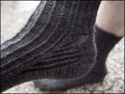 Gusset and heel