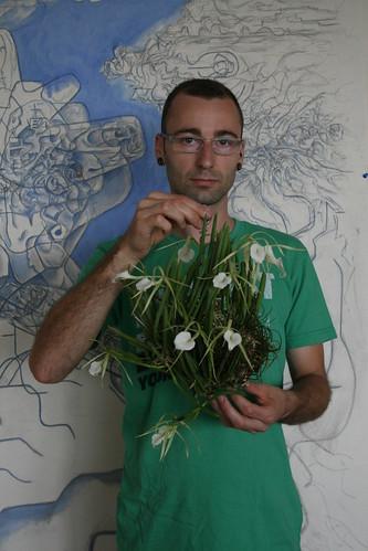 Me holding Brassavola nodosa plant Sept/09