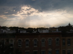 Beautiful crespucular rays over NYC (yankeesmann1918) Tags: nyc rays crespucular