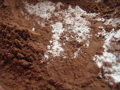 The chocolate and flour mix